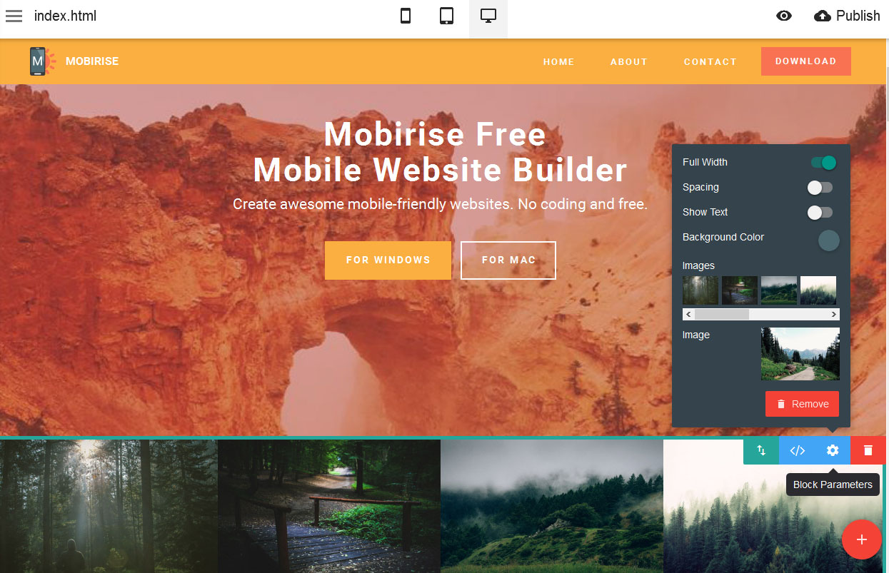 Why Mobirise Free Mobile Website Builder is a smart choice?