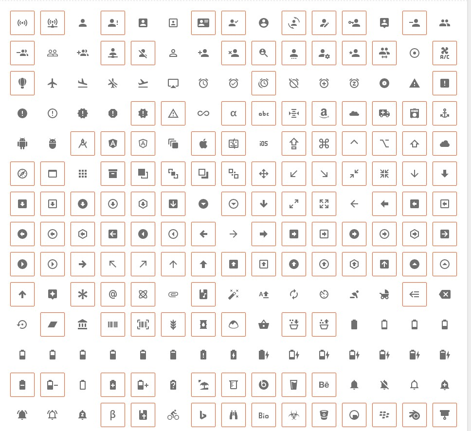Catalogue of the icons