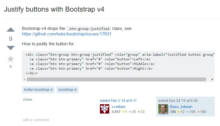 Support buttons  using Bootstrap v4