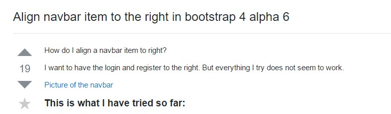 Line up navbar  thing to the right  inside Bootstrap 4 alpha 6