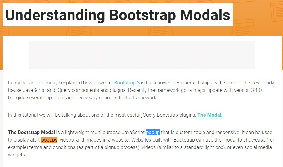 Another  practical article about Bootstrap Modal Popup
