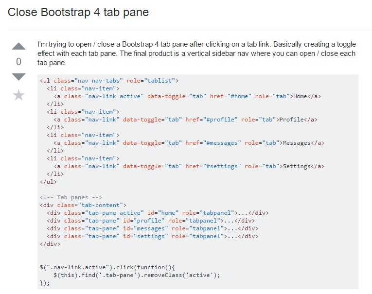 The ways to  shut off Bootstrap 4 tab pane