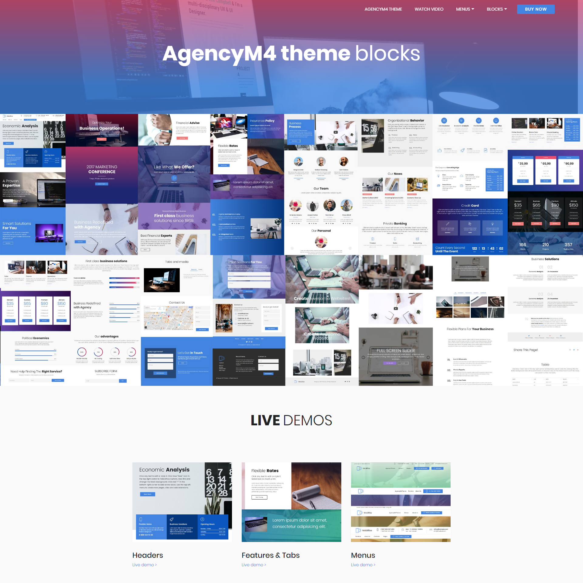 Free Bootstrap AgencyM4 Themes