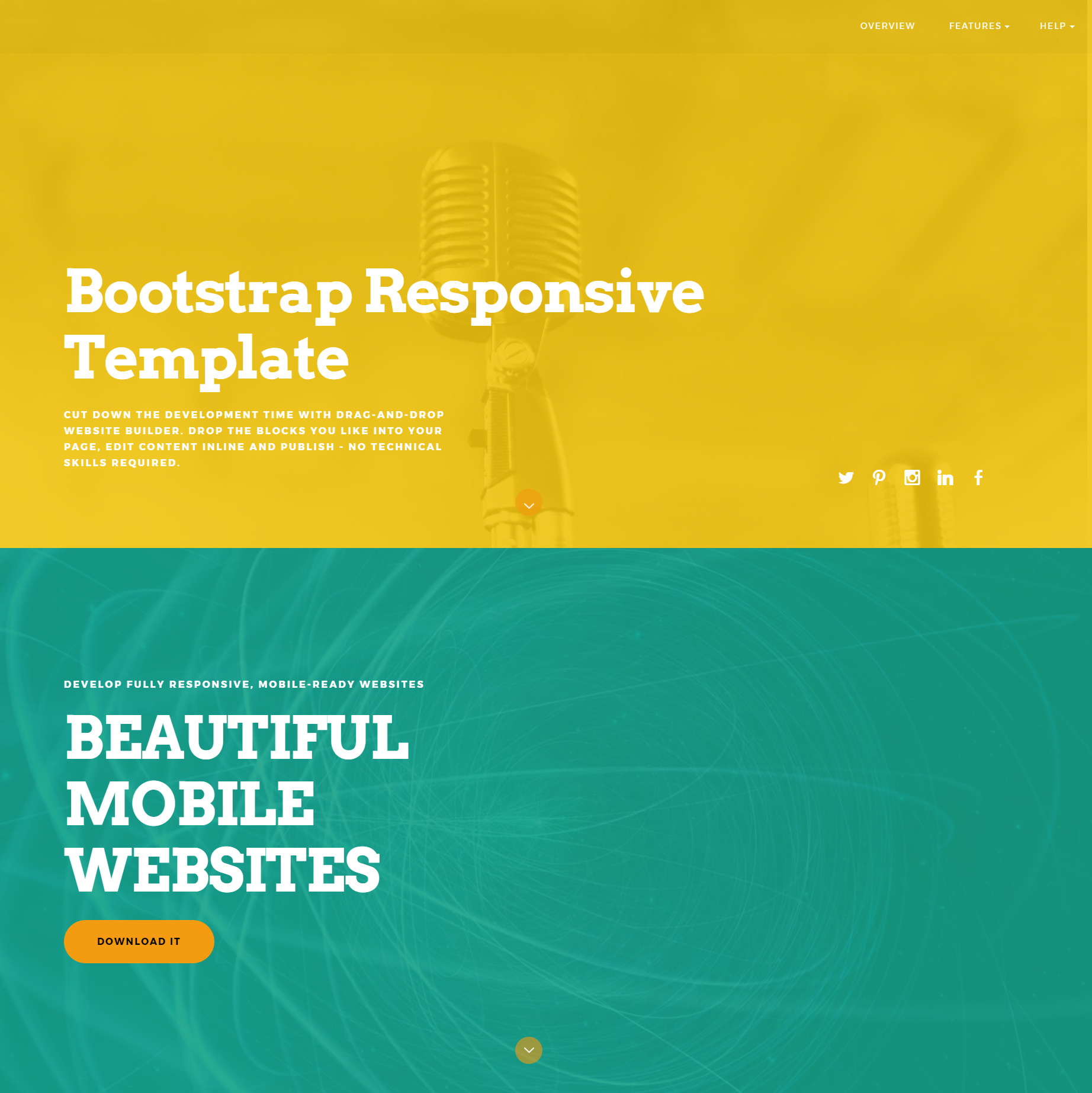 HTML5 Bootstrap Responsive Templates