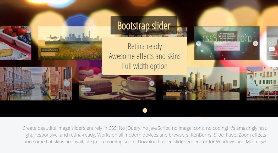 how to make slider responsive using bootstrap