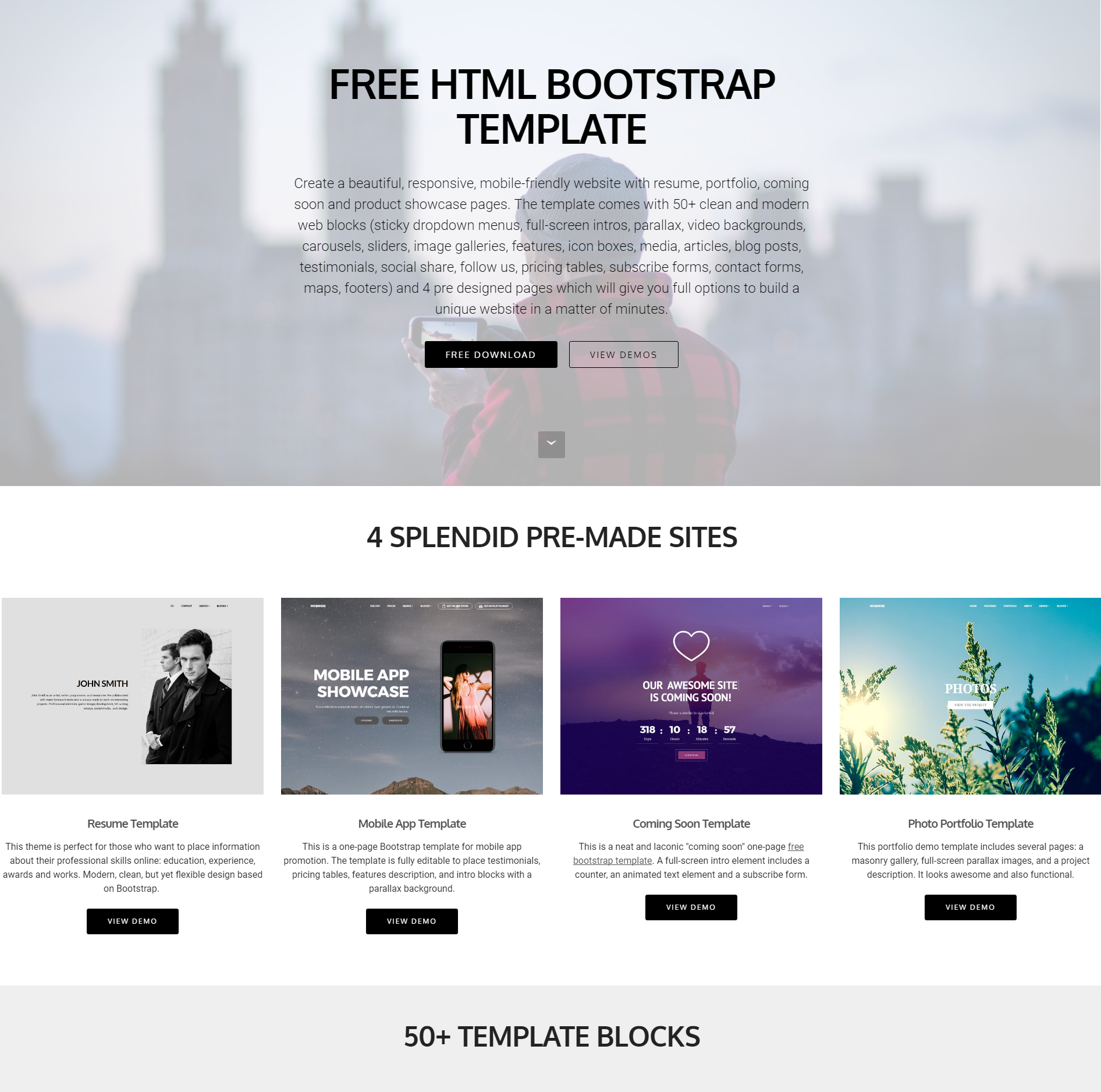 35+ Beautiful Free Bootstrap Templates 2019