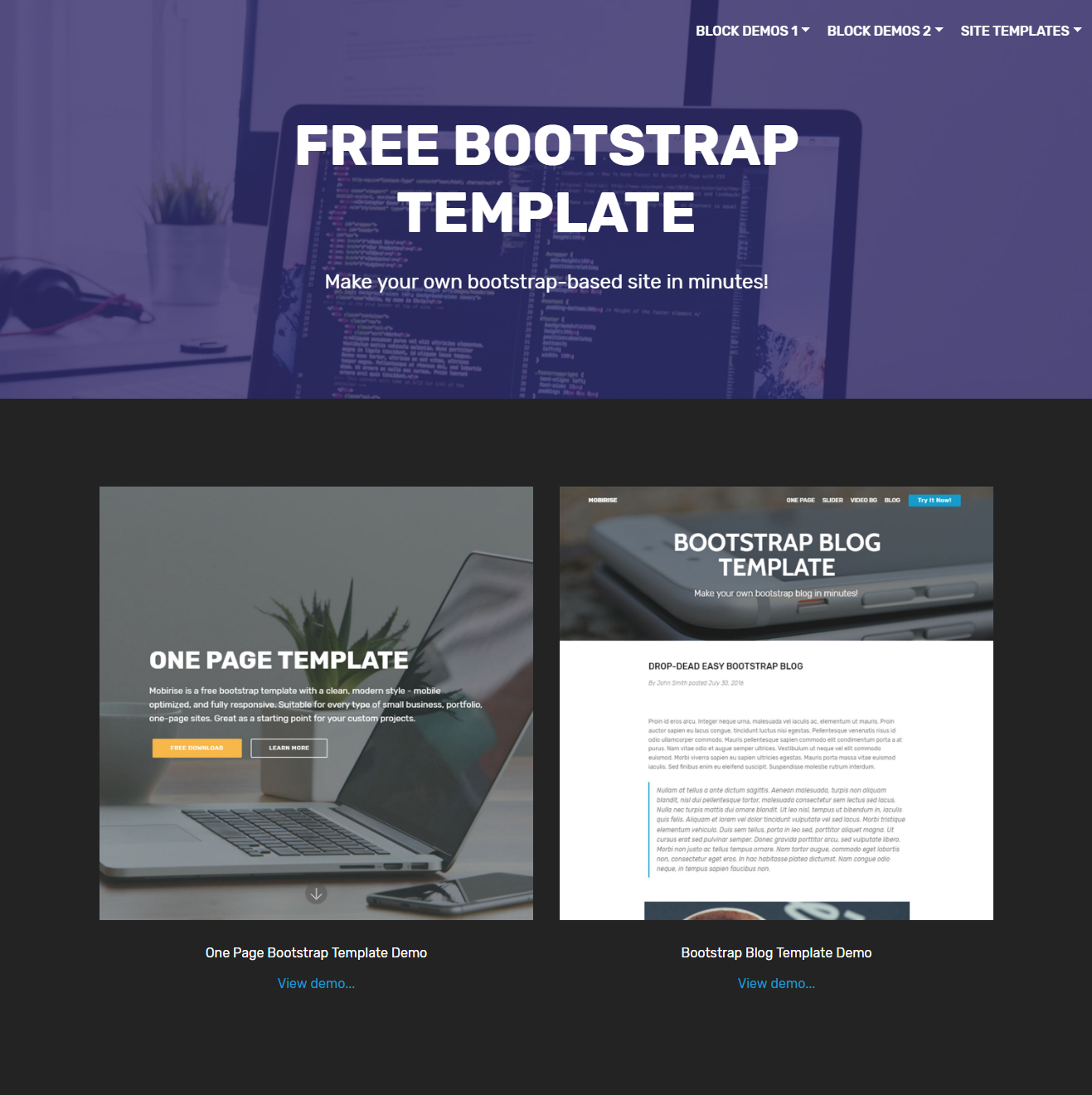 35 Beautiful Free Bootstrap Templates 2019