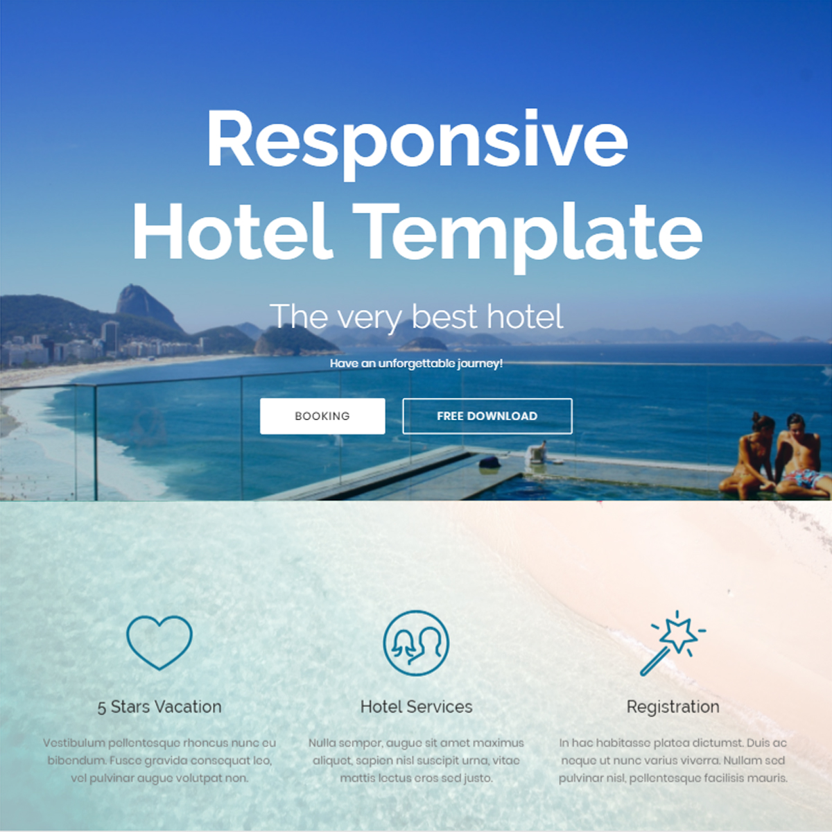 Responsive Bootstrap Hotel Themes