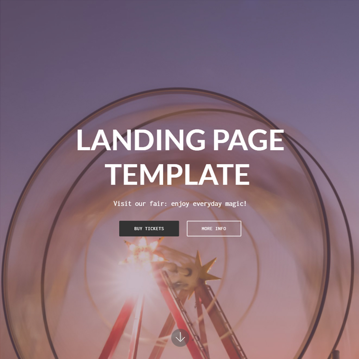 HTML Bootstrap Landing Page Themes