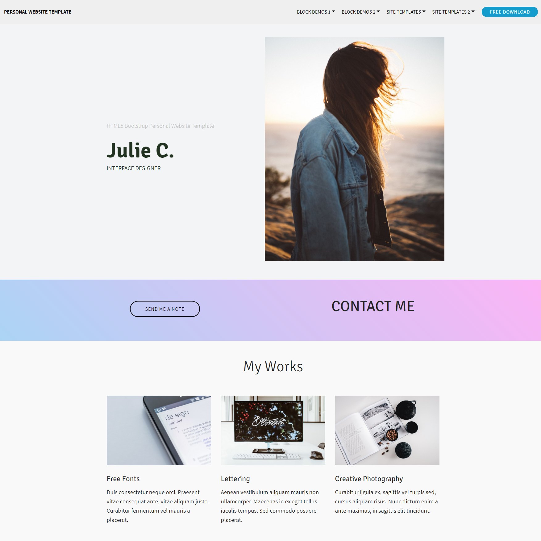 Beautiful Free Bootstrap Templates - Free responsive personal website templates