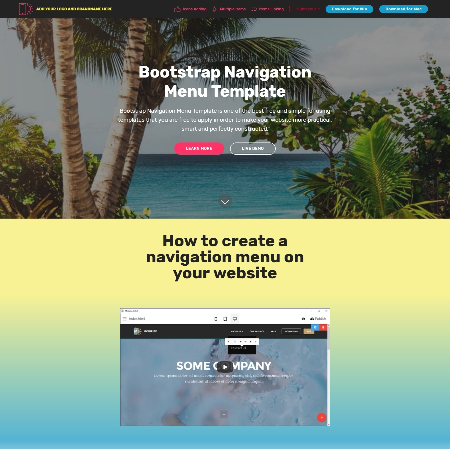 Creative Jquery Bootstrap Responsive Video Players And Accordion