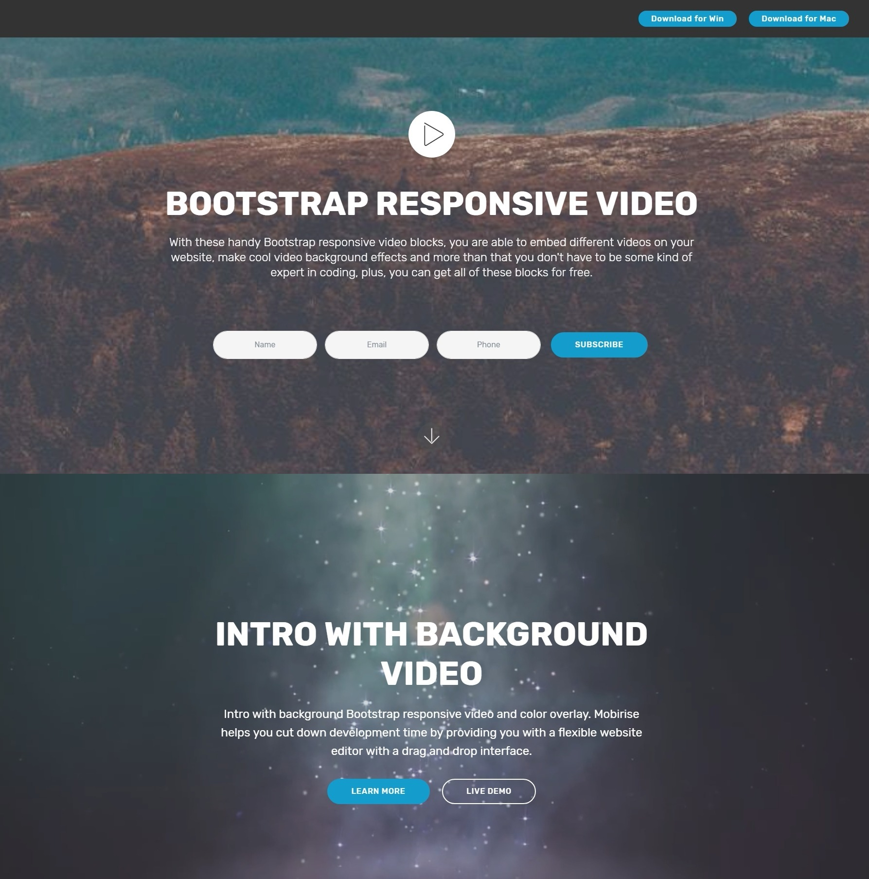 Creative jQuery Bootstrap Responsive Video Players and