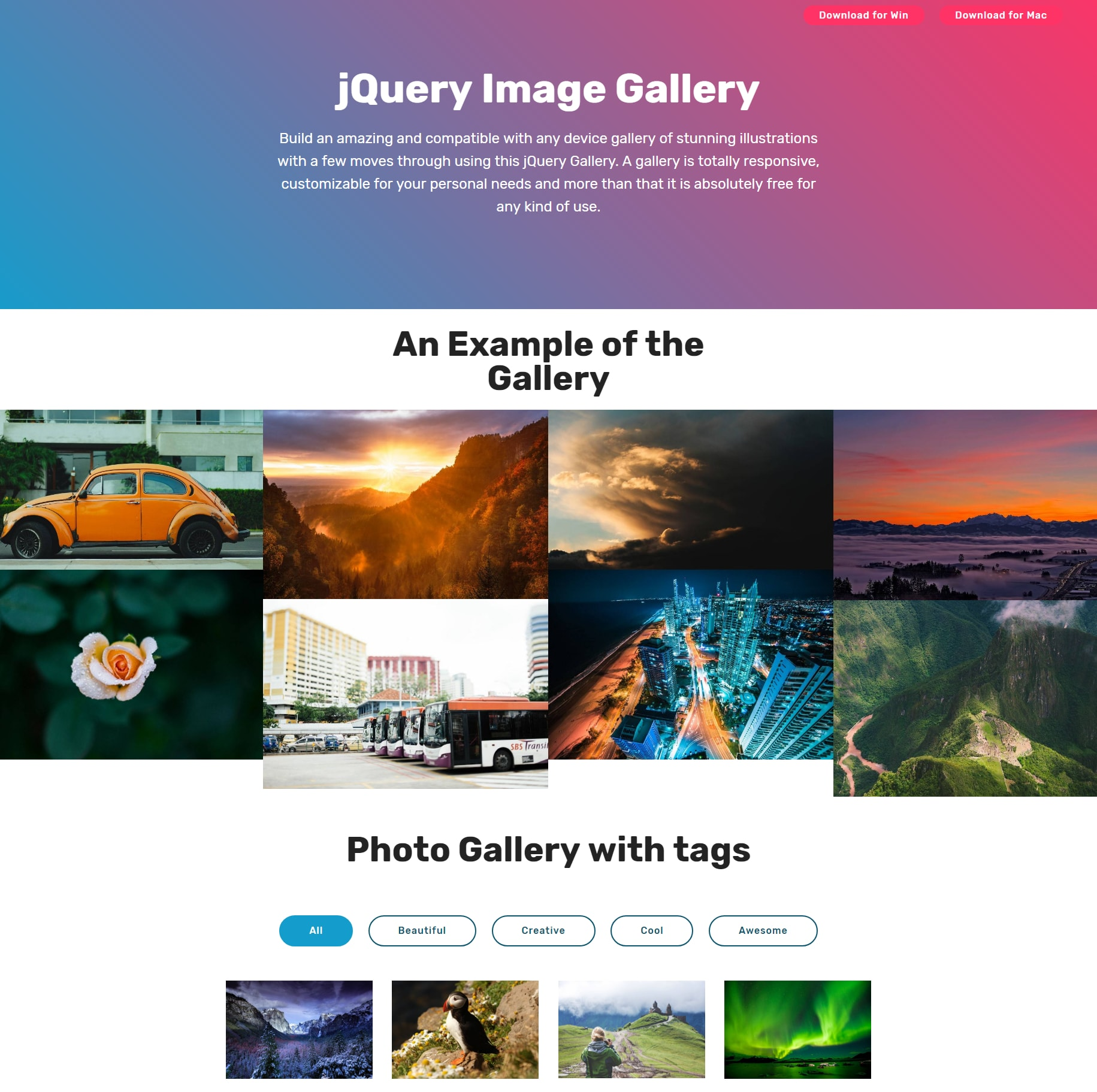 Css grids example: image thumbnail gallery youtube.
