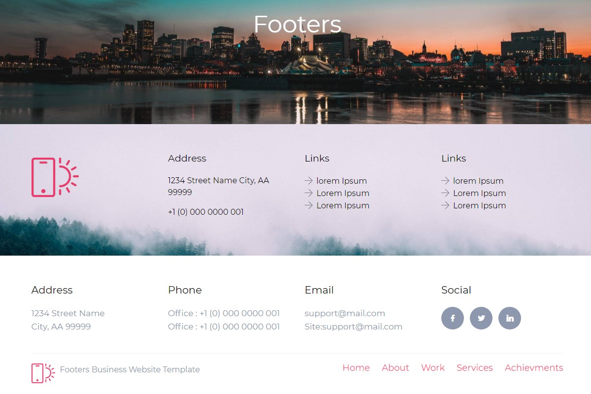 Creative Footer