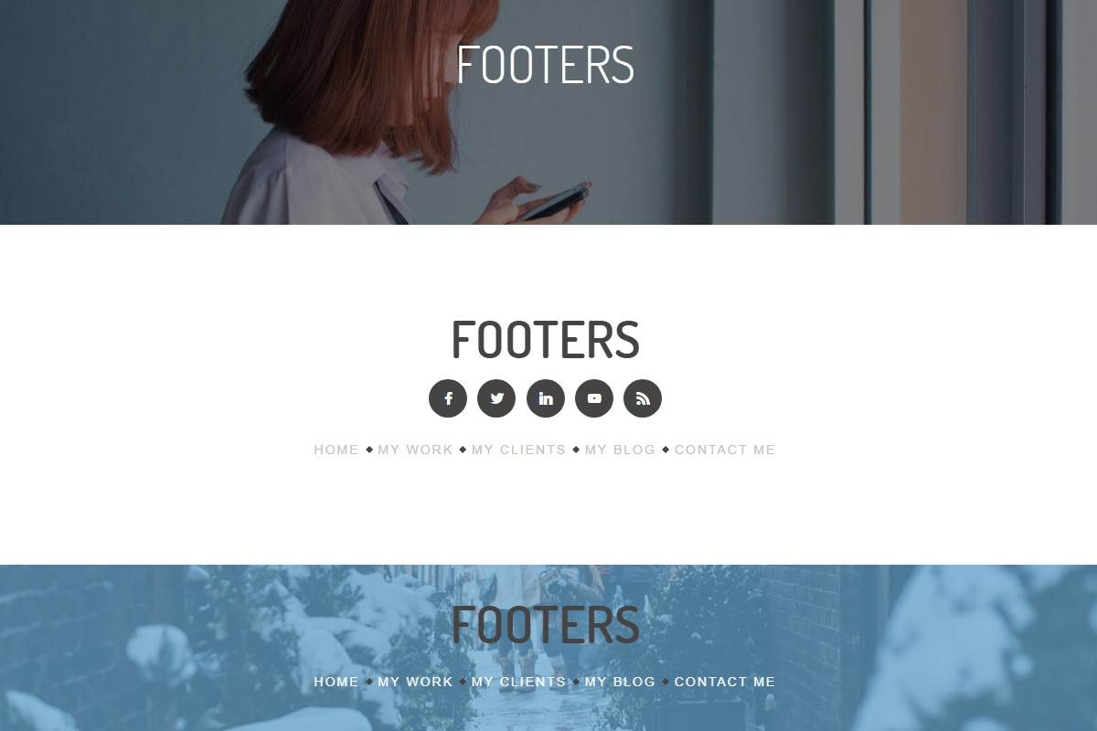 Useful Footer HTML Template