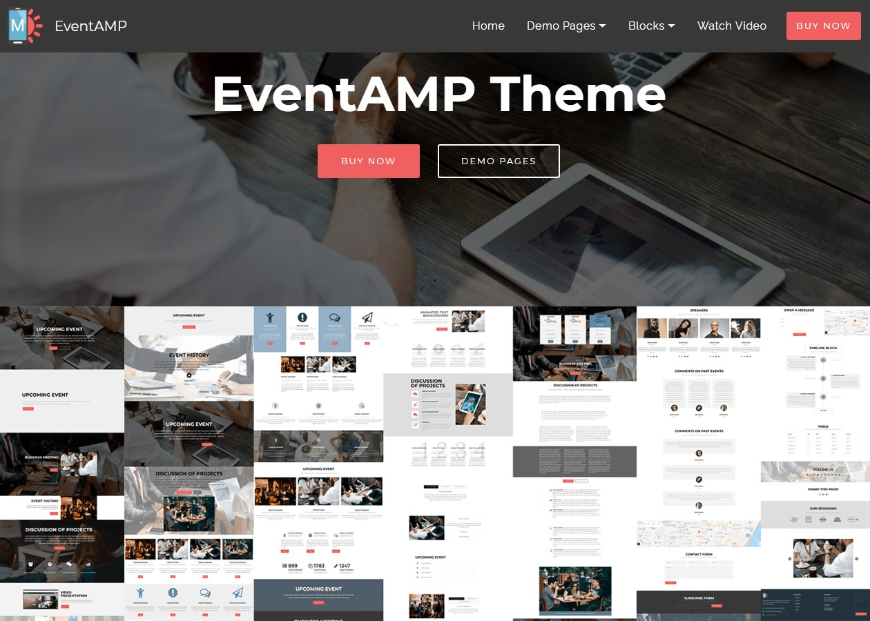 EventAMP HTML Template