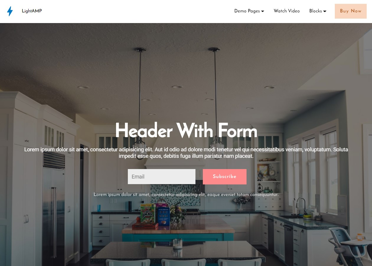 LightAMP HTML Header Template