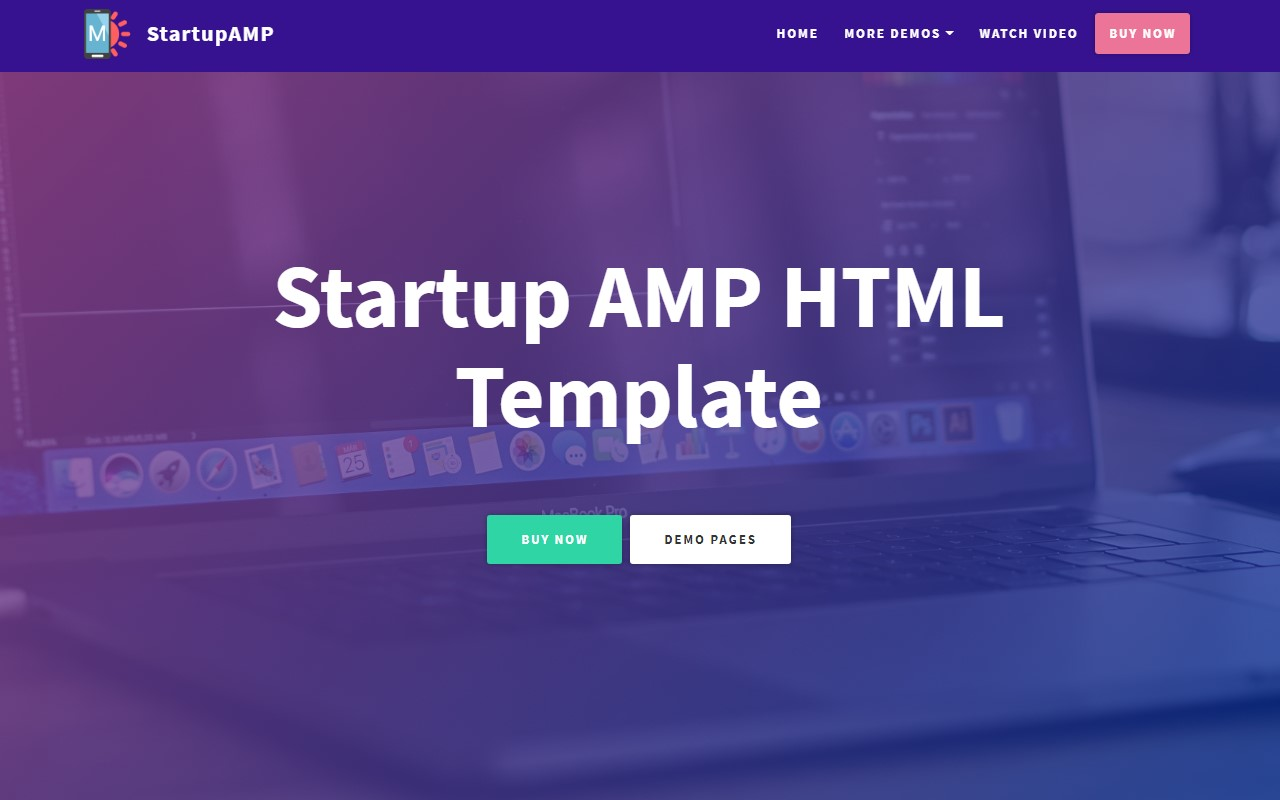 New StartupAMP HTML Template