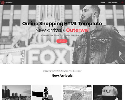 Online Shopping HTML Template