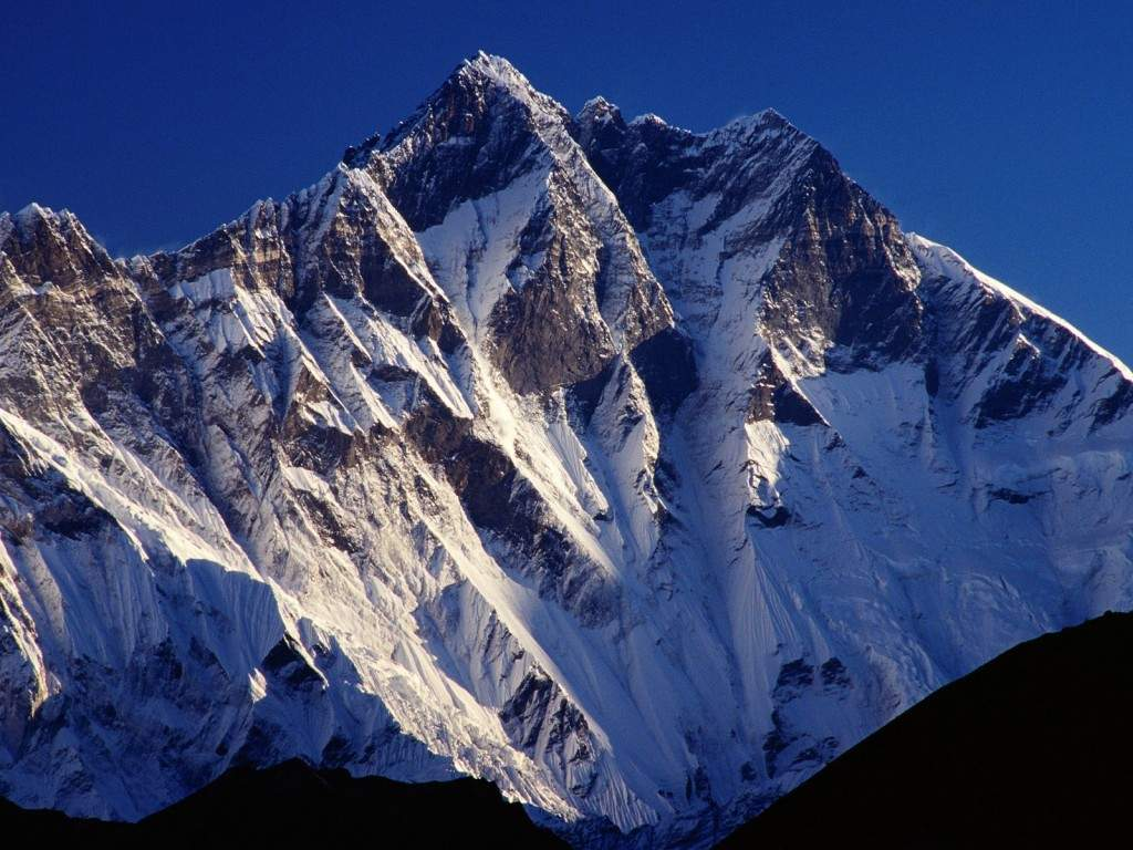 The peat of mountain Lhotse - Nepal