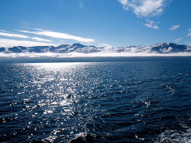 Sea near the Arctic Circle