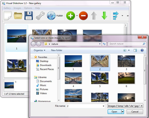 Add Images To Gallery : Free SlideShow Maker